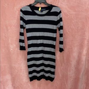 French Connection Grey/Black Sweater Dress Sz6